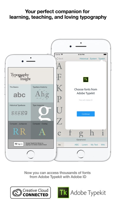 Typography Insight for iPhone Screenshots