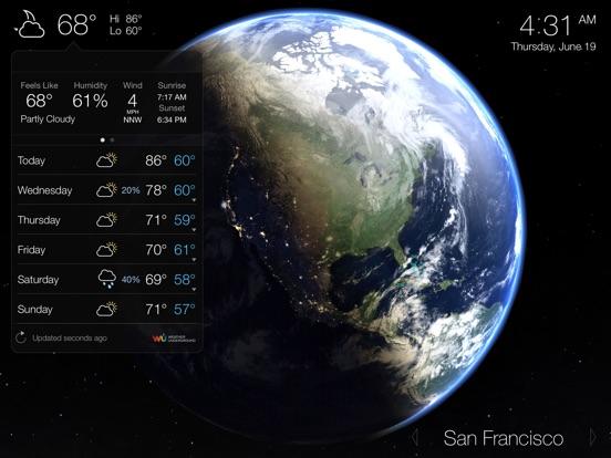 Living Earth - Clock & Weather Screenshots