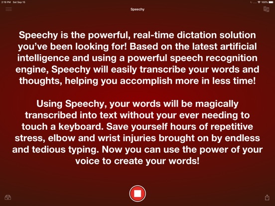 Voice Dictation - Speechy Screenshots