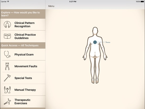 Clinical Pattern Recognition: Neck/Upper Back Pain Screenshots