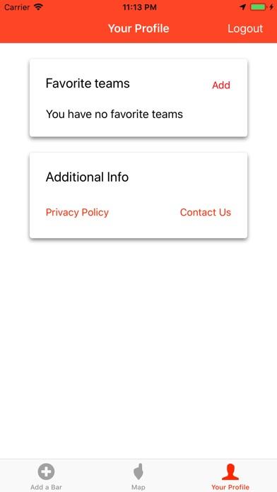 Team Bar Finder Screenshots