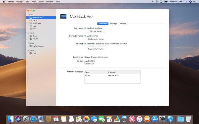 macOS Server Screenshots