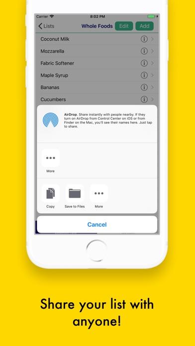 Shopping/Grocery List Pro Screenshots