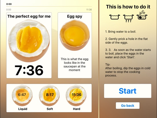 The perfect Egg timer Screenshots