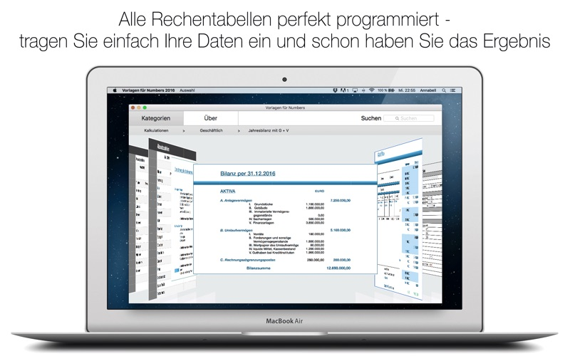 Vorlagen für Numbers 2016 App - Preisentwicklung und Preisalarm ...