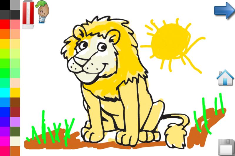 为幼儿和儿童的动物世界:图片,照片和着色页!是一个教育和娱乐游戏.