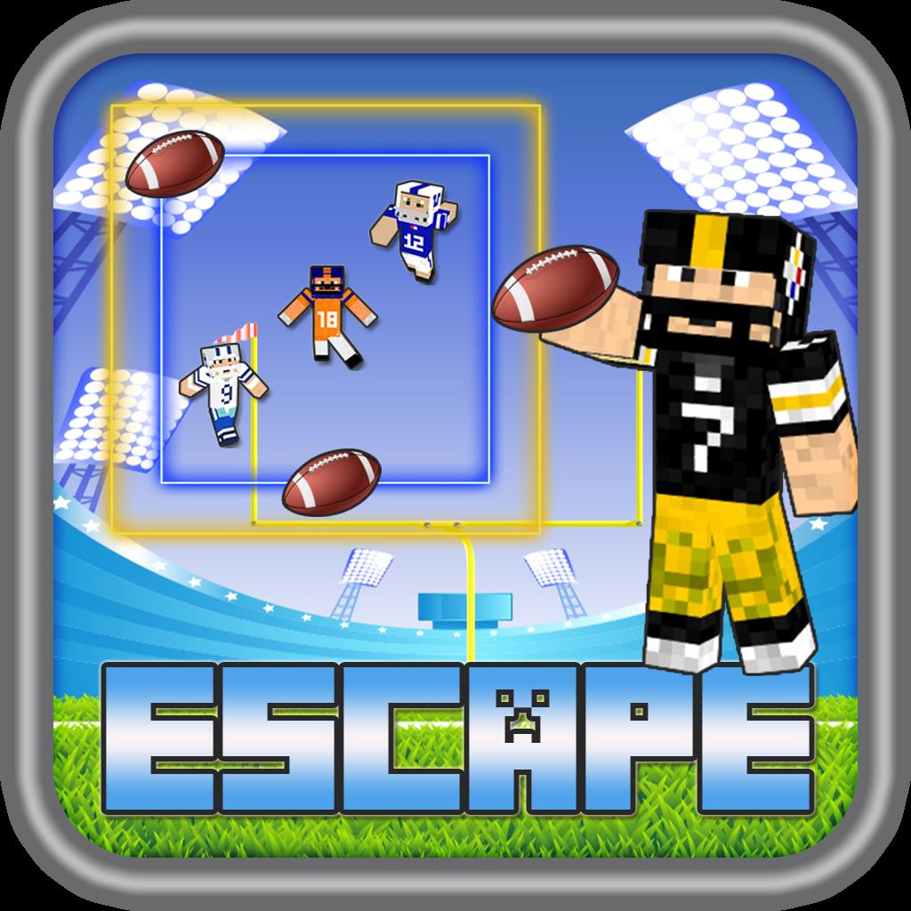 American Football Super Hero Skin Escape Bowl Ball