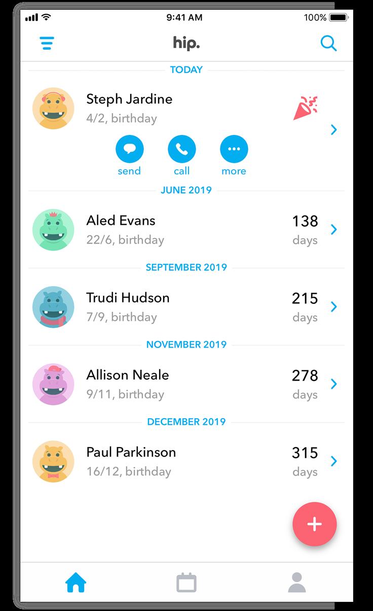 Geburtstagsliste nie mehr geburtstage verpassen: app store-story