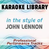 Love (Full Vocal Version) [In the Style of John Lennon]