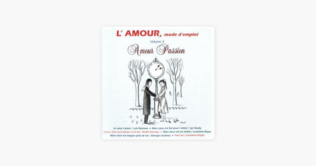 Lamour Mode Demploi Vol 3 Amour Passion De Varios Artistas