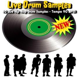 40 Live Hip Hop Drum Samples - Tempo 90 BPM by Live Drum Samples