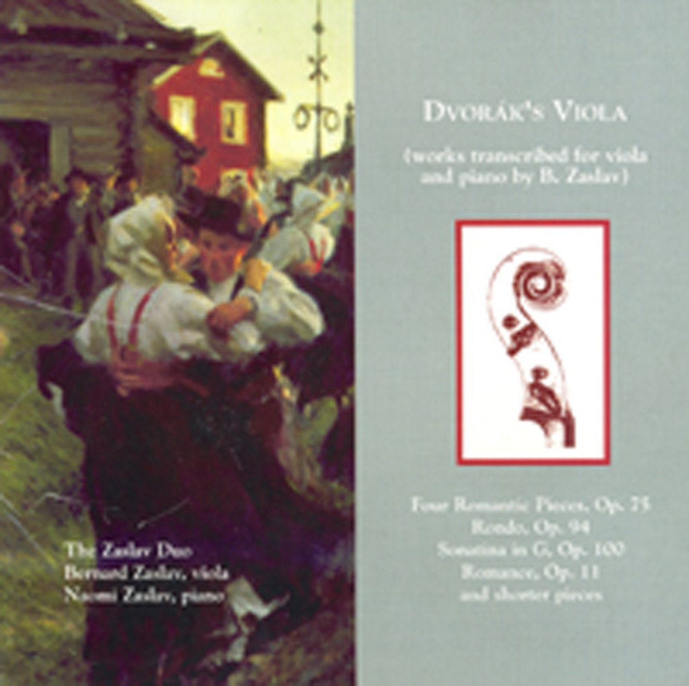 Romance in F Minor, Op. 11, B. 39 (Arr. for Viola and Piano)