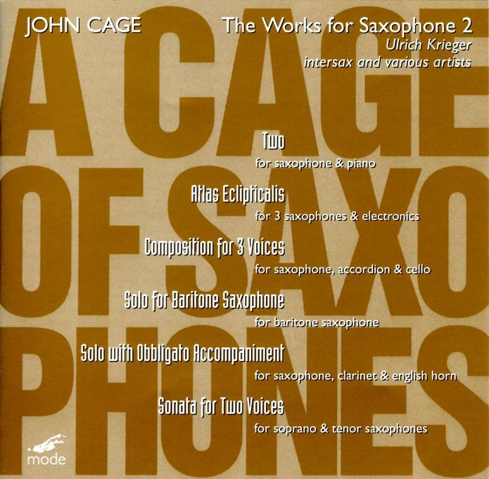 Complete John Cage Edition, Vol. 35 - A Cage of Saxophone 2