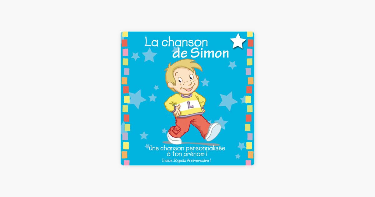 La Chanson De Simon Album Personnalise Par Le Prenom By Leopold Et
