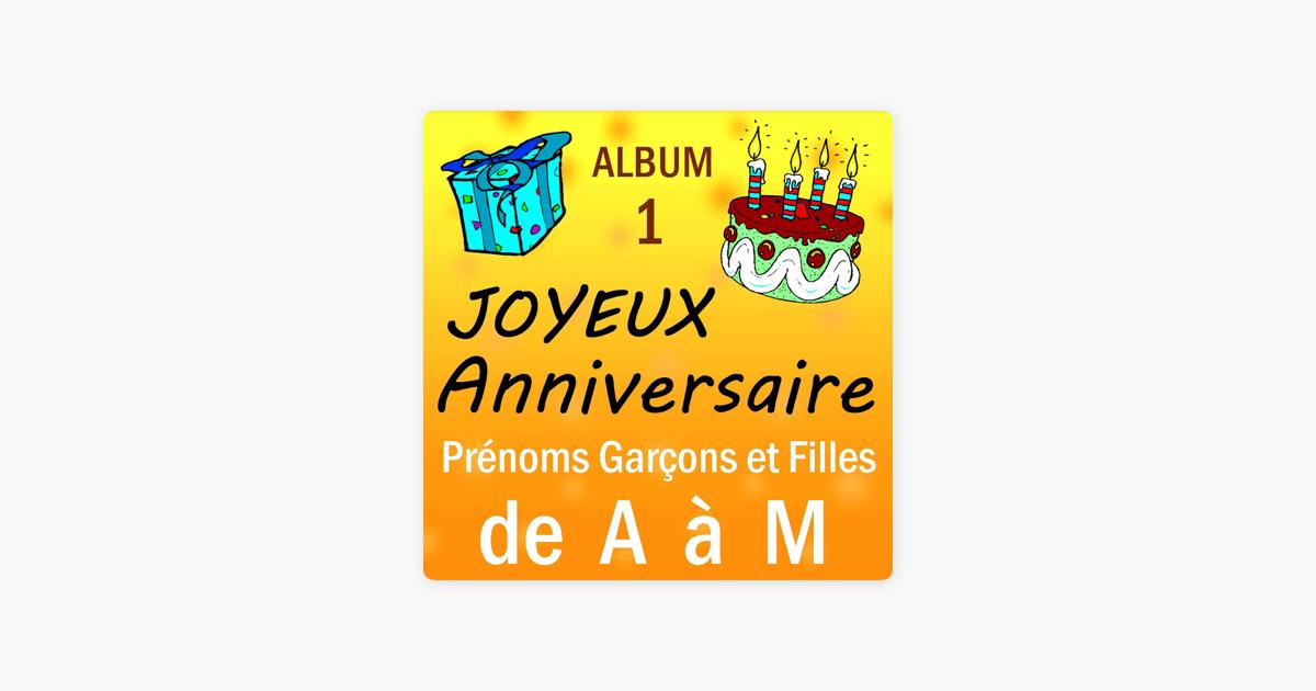 Joyeux Anniversaire Prenoms Garcons Et Filles De A A M Par