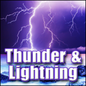 Lightning, Thunder - Powerful Lightning Strike and Heavy Thunder Rumble, Weather Thunder & Lightning