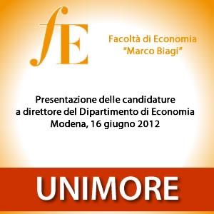 Presentazione delle candidature a Direttore del Dipartimento di Economia [Video]