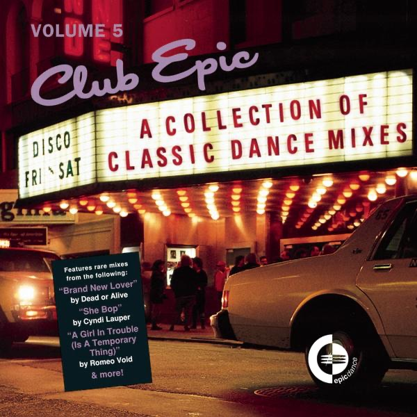 Club Epic - A Collection of Classic Dance Mixes Vol 5 Various Artists CD cover