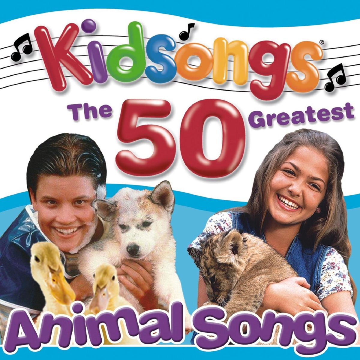 Kidsongs: The 50 Greatest Animal Songs Album Cover by Kidsongs