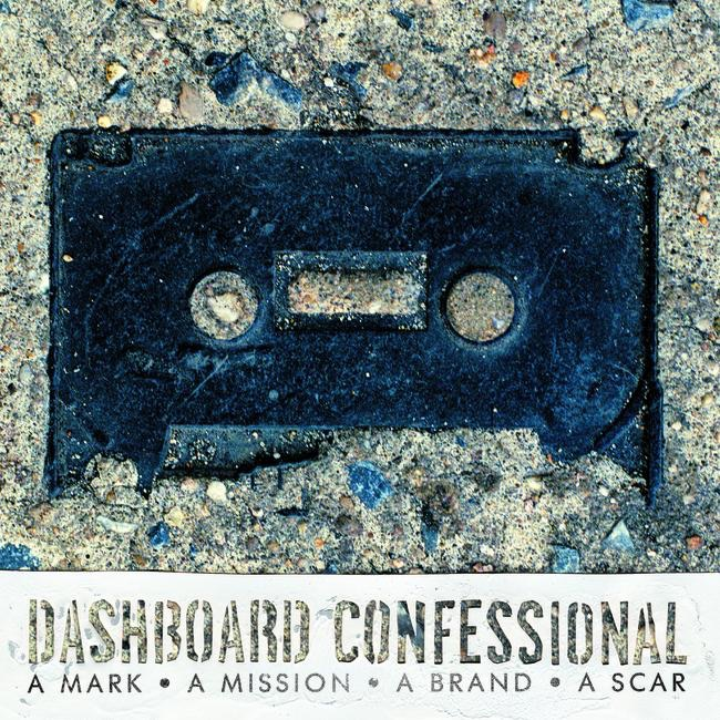 A Mark a Mission a Brand a Scar Dashboard Confessional CD cover