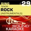 Sing Tenor - Rock, Vol. 29 (Karaoke Performance Tracks)