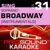Sing Soprano Broadway Vol 31 Karaoke Performance Tracks