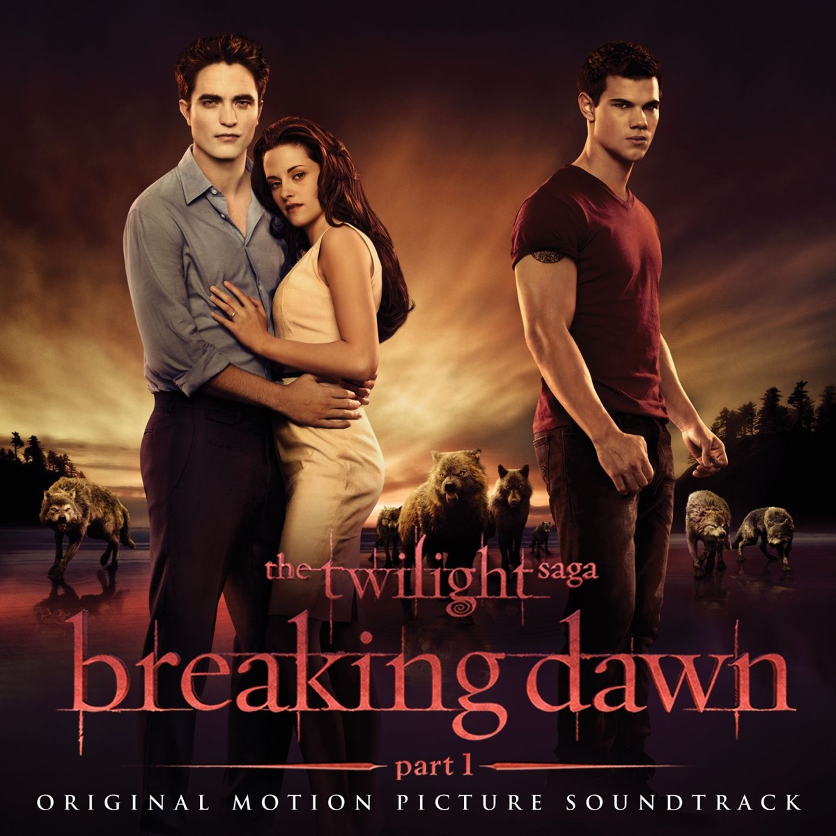The Twilight Saga Breaking Dawn - Pt 1 Original Motion Picture Soundtrack Various Artists CD cover