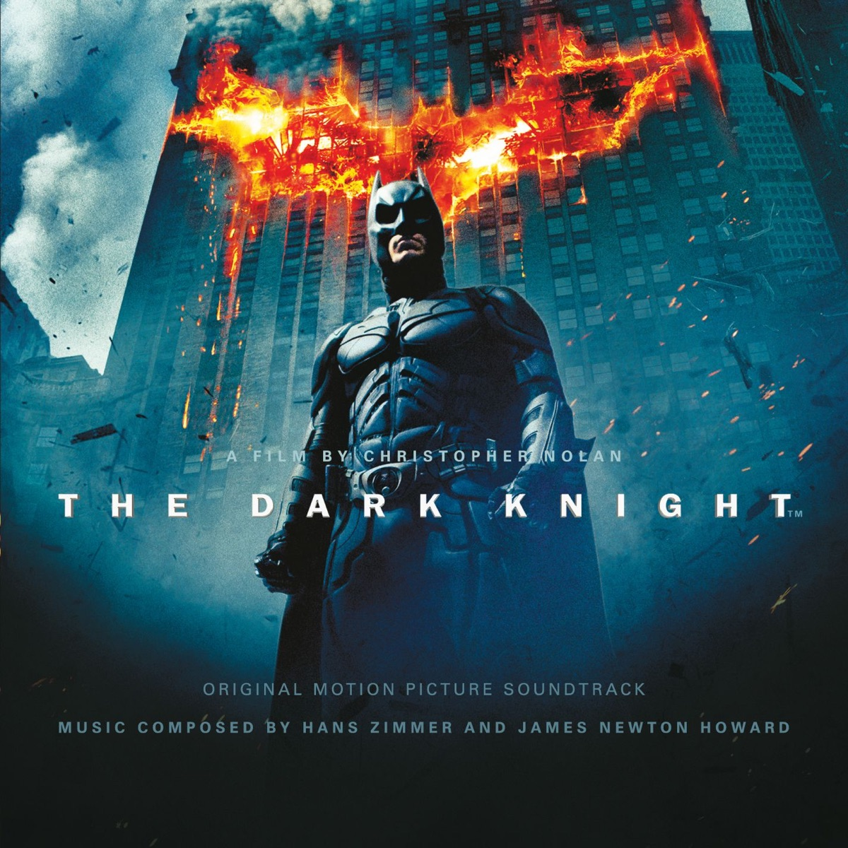 The Dark Knight Original Motion Picture Soundtrack Hans Zimmer  James Newton Howard CD cover