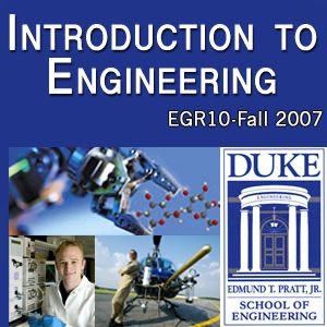 EGR 10: Introduction to Engineering - full course: video/VGA