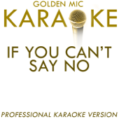 If You Can't Say No (In the Style of Lenny Kravitz) [Karaoke Version]