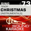 Sing Tenor Christmas Vol 73 Karaoke Performance Tracks