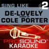 Sing De Lovely Songs of Cole Porter Vol 2