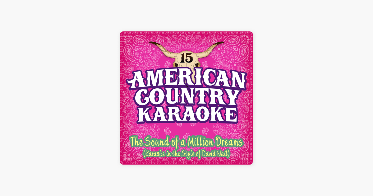 ‎The Sound of a Million Dreams (Karaoke in the Style of David Nail) -  Single by American Country Karaoke