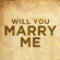 Will You Marry Me - Will You Say Yes