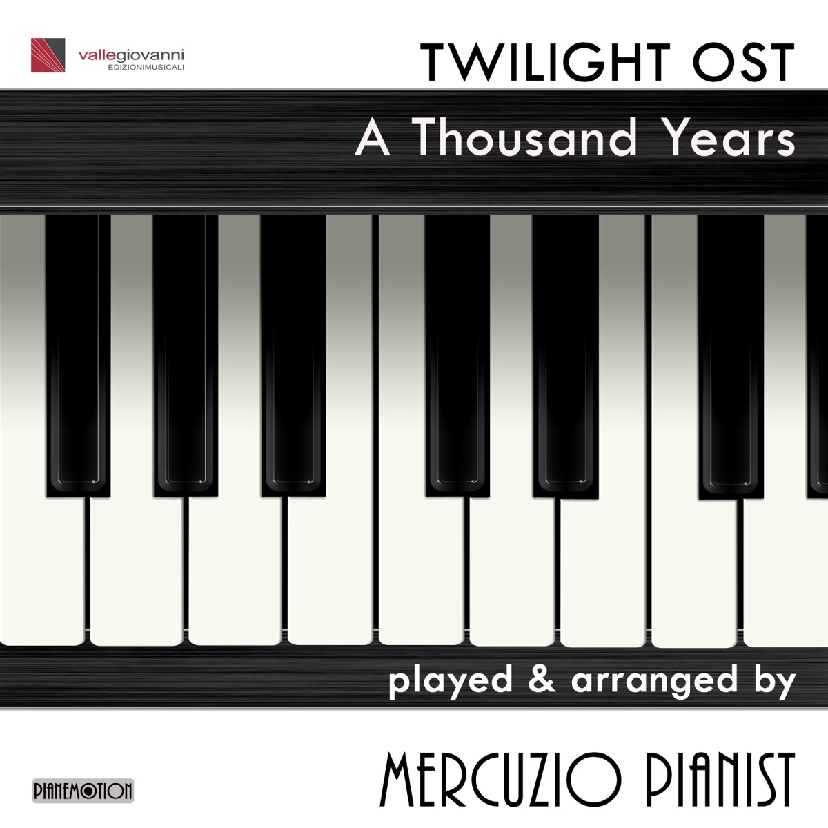 A Thousand Years - Single Mercuzio Pianist CD cover