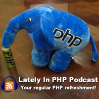 Podcast cover art for Lately in PHP podcast