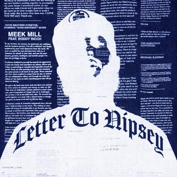 Letter To Nipsey (feat. Roddy Ricch) - Single