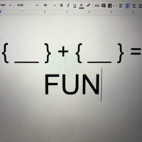 Podcast cover art for {Blank} + {Blank} = Fun