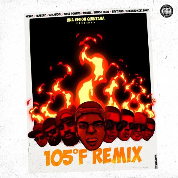 105 F (Remix) [feat. Arcángel, Ñengo Flow, Darell, Myke Towers & Brytiago] - Single