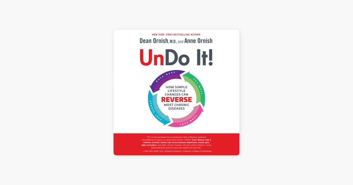 Undo It!: How Simple Lifestyle Changes Can Reverse Most Chronic Diseases (Unabridged) - Dean Ornish, M.D. & Anne Ornish