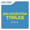 Multiplication Tables 13-14-15 - King Things