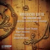 Jack Van Geem & Nancy Zeltsman - Piano Sonata No. 1 (Arr. N. Zeltsman for Marimba Duo): III. Andante