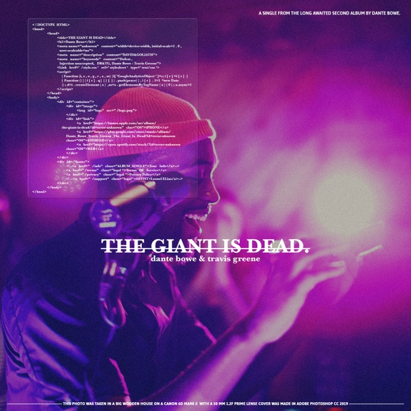 Cover art for The Giant Is Dead (Feat. Travis Greene)