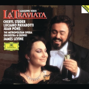"Luciano Pavarotti, James Levine, Metropolitan Opera Orchestra, Cheryl Studer, Wendy White, Julien Robbins, Jeffrey Wells & Anthony Laciura - La Traviata: ""Invitato a Qui Seguirmi"""