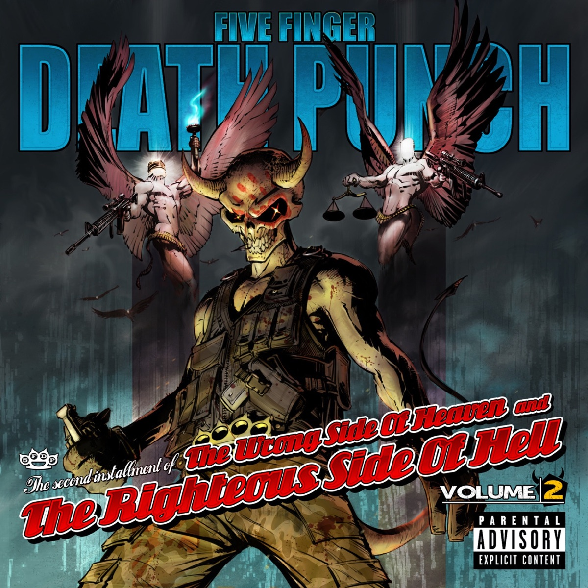 The Wrong Side of Heaven and the Righteous Side of Hell Vol 2 Five Finger Death Punch CD cover