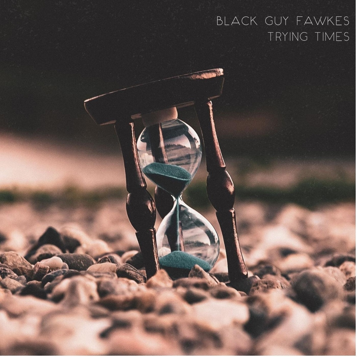 Trying Times Black Guy Fawkes CD cover