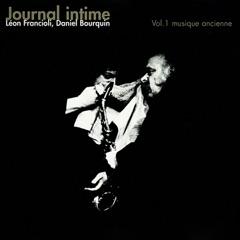Journal intime, vol. 1 (Musique ancienne)