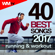 Various Artists - 40 Best Songs 2017 For Running & Workout (Unmixed Compilation for Fitness & Workout 123 - 136 Bpm / 32 Count)