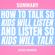Alexis Schafer - Summary: How to Talk so Kids Will Listen and Listen so Kids Will Talk (Unabridged)