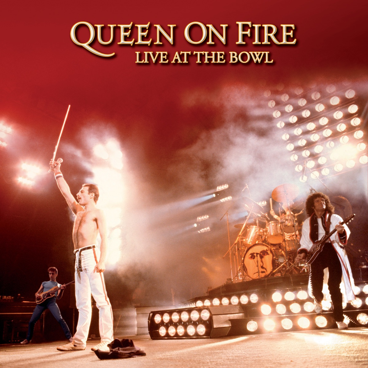 On Fire Live at the Bowl Live at Milton Keynes Bowl June 1982 Queen CD cover